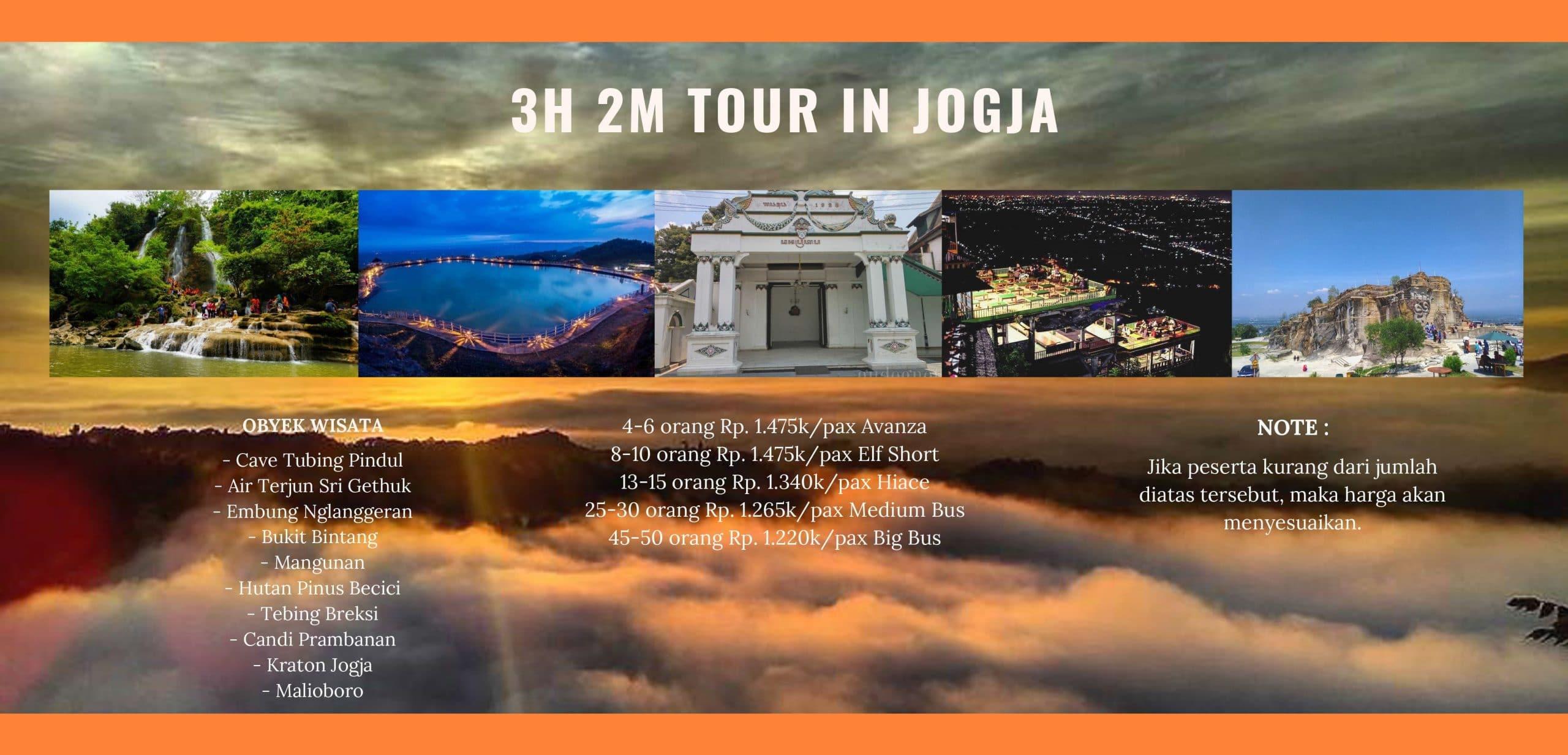 Paket Tour Jogja 3H2M Terbaru dan Terlengkap